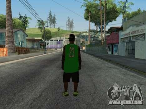Fam3 Skin para GTA San Andreas segunda pantalla