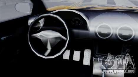 GTA 5 Dewbauchee Massacro Racecar SA Mobile para GTA San Andreas vista posterior izquierda