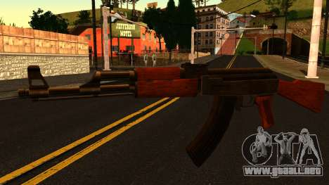 AK47 from GTA 4 para GTA San Andreas