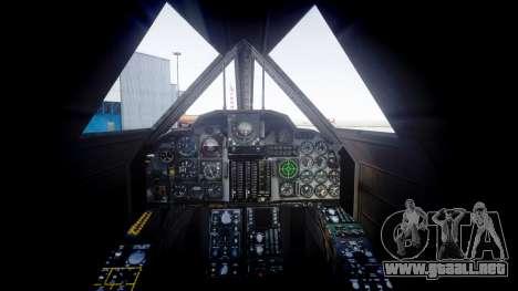 Lockheed SR-71 Blackbird para GTA 4 Vista posterior izquierda