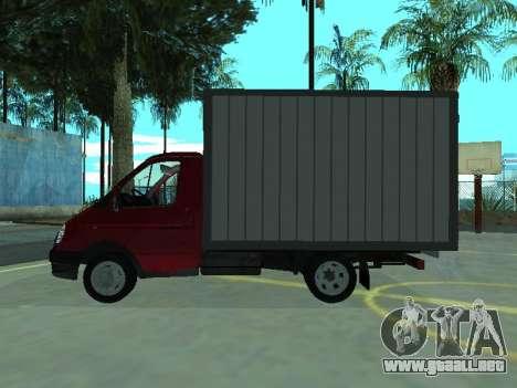 GAZel 3302 para GTA San Andreas vista posterior izquierda