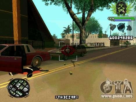 C-HUD Marihaus para GTA San Andreas sucesivamente de pantalla