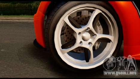 GTA 5 Dewbauchee Rapid GT Cabrio [IVF] para GTA San Andreas vista posterior izquierda