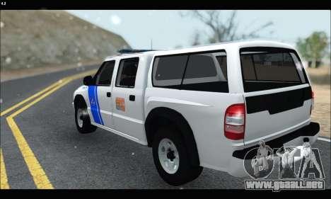 Chevrolet S-10 P.N.A para GTA San Andreas vista posterior izquierda