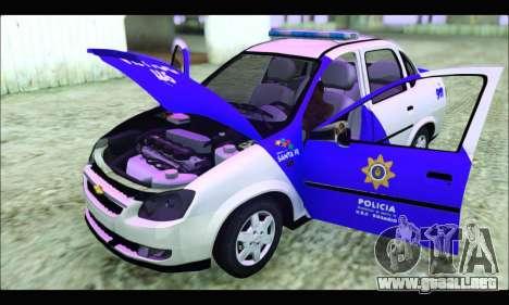 Chevrolet Corsa Classic Policia de Santa Fe para la visión correcta GTA San Andreas
