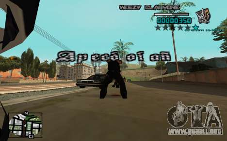 C-HUD Weezy para GTA San Andreas sucesivamente de pantalla