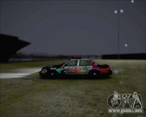 Ford Crown Victoria Ghetto Style para GTA San Andreas vista posterior izquierda
