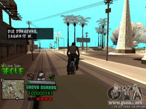 C-HUD Grove Street para GTA San Andreas undécima de pantalla