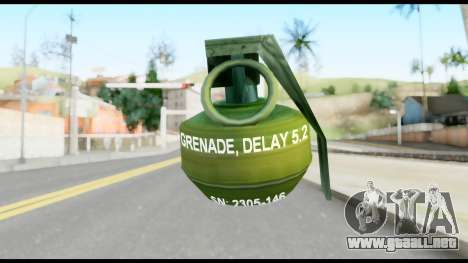 MGS1-2 Grenade from Metal Gear Solid para GTA San Andreas segunda pantalla