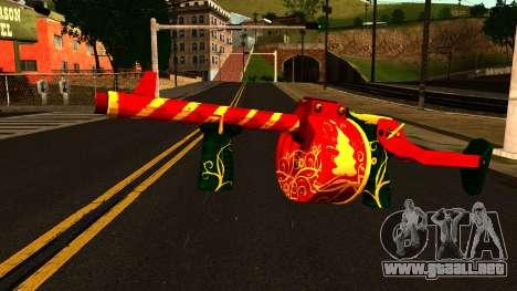 Navidad Escopeta para GTA San Andreas