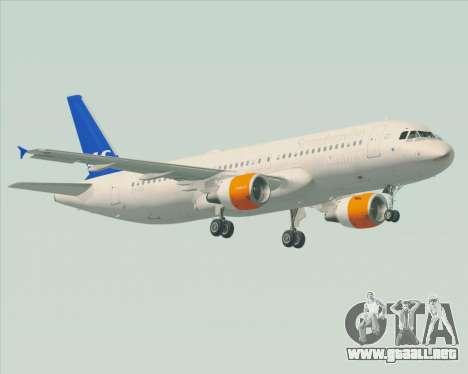 Airbus A320-200 Scandinavian Airlines - SAS para vista lateral GTA San Andreas