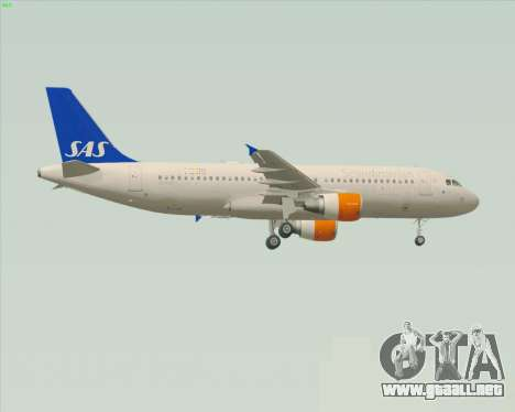 Airbus A320-200 Scandinavian Airlines - SAS para GTA San Andreas vista posterior izquierda