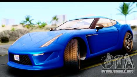 GTA 5 Grotti Carbonizzare v3 para GTA San Andreas vista posterior izquierda