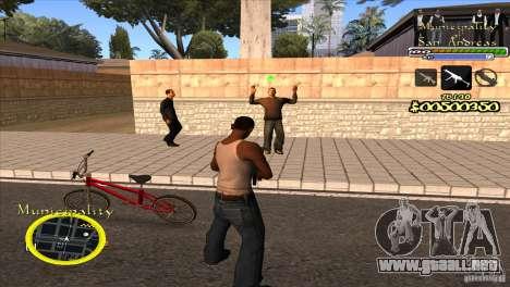 C-HUD para el Gobierno para GTA San Andreas tercera pantalla