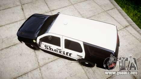 Chevrolet Tahoe 2013 County Sheriff [ELS] para GTA 4 visión correcta