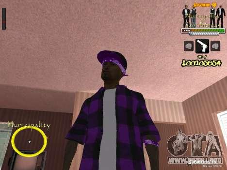 C-HUD para el Gobierno para GTA San Andreas segunda pantalla
