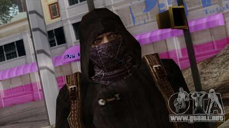 Resident Evil Skin 8 para GTA San Andreas tercera pantalla