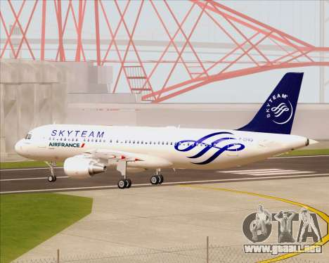 Airbus A320-200 Air France Skyteam Livery para visión interna GTA San Andreas