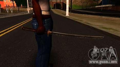Katana from Shadow Warrior para GTA San Andreas tercera pantalla