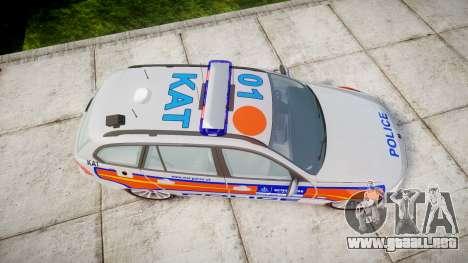 BMW 325d E91 2010 Metropolitan Police [ELS] para GTA 4 visión correcta