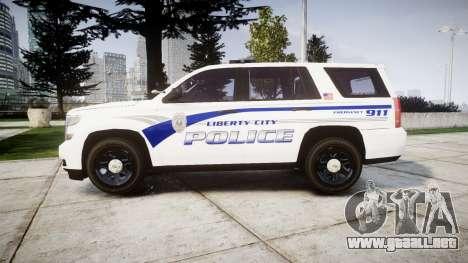 Chevrolet Tahoe 2015 LCPD [ELS] para GTA 4 left