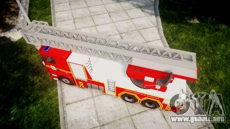 Scania R580 Marseille Fireladder [ELS] para GTA 4 visión correcta
