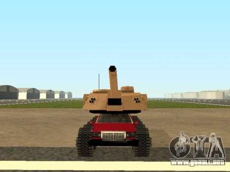 Tink Tank para GTA San Andreas vista posterior izquierda