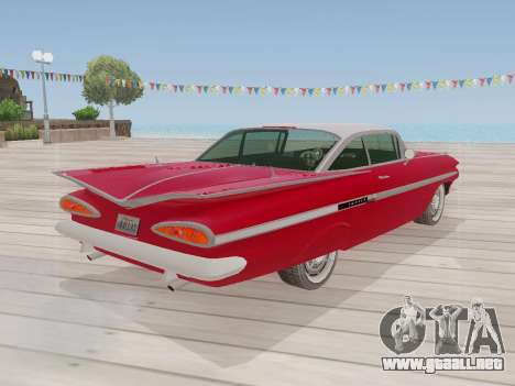 Chevrolet Impala 1959 para visión interna GTA San Andreas