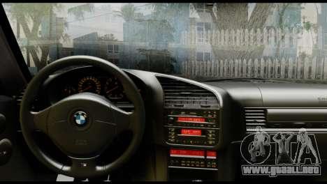 BMW M3 E36 Camo Drift para GTA San Andreas vista posterior izquierda