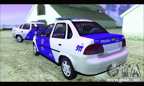 Chevrolet Corsa Classic Policia de Santa Fe para GTA San Andreas left