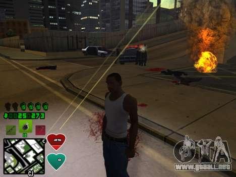 C-HUD Classic v4.1 para GTA San Andreas quinta pantalla