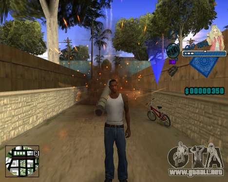 C-HUD Old Rifa para GTA San Andreas segunda pantalla
