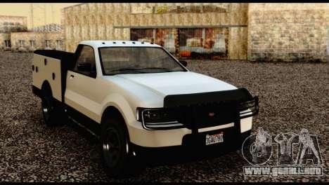 Utility Van from GTA 5 para GTA San Andreas vista hacia atrás