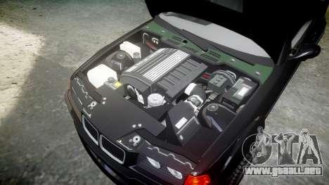 BMW E36 M3 Duck Edition para GTA 4 vista interior