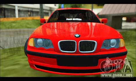 BMW e46 Sedan V2 para GTA San Andreas left