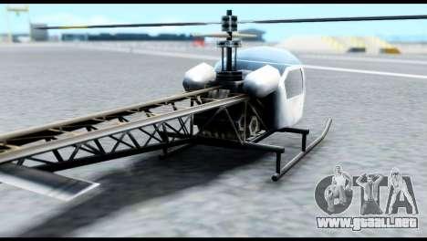 Beta Sparrow para GTA San Andreas vista posterior izquierda