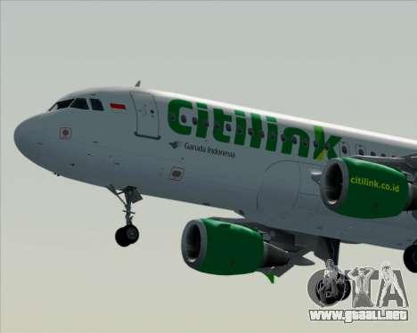Airbus A320-200 Citilink para vista inferior GTA San Andreas