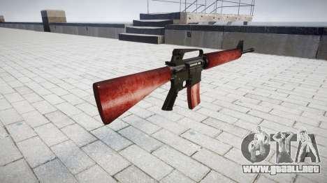 El rifle M16A2 rojo para GTA 4 segundos de pantalla