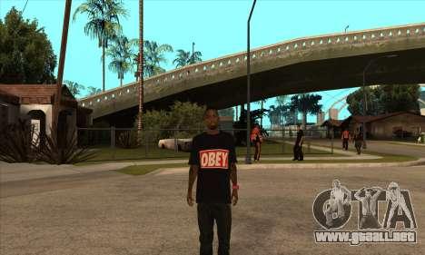 Obey Nigga para GTA San Andreas