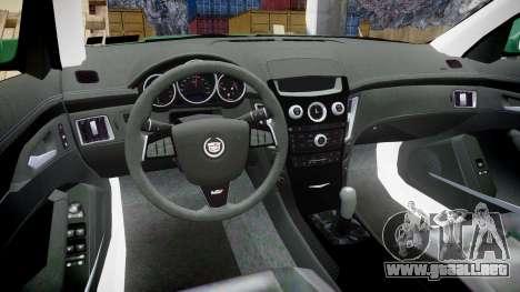 Cadillac CTS-V 2010 para GTA 4 vista hacia atrás