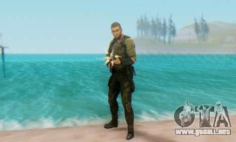 Sam Fisher - Paladin Outfit (Splinter Cell Black para GTA San Andreas sucesivamente de pantalla