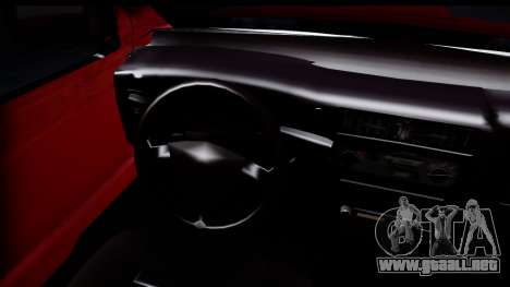 Toyota Hilux FB para GTA San Andreas vista posterior izquierda