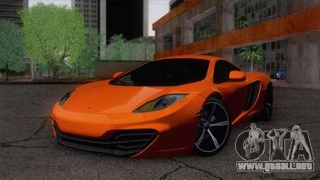 McLaren MP4-12C Gawai v1.5 para GTA San Andreas