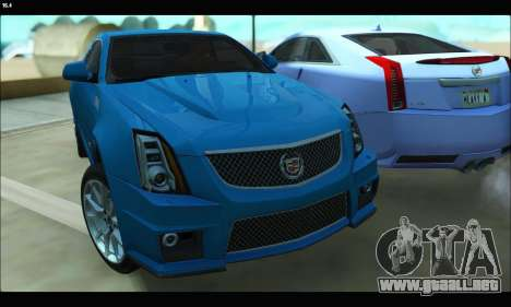 Cadillac CTS-V Coupe para GTA San Andreas left