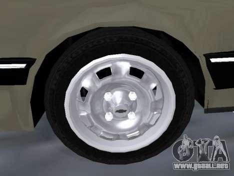 Chevrolet Chevette Hatch para vista inferior GTA San Andreas
