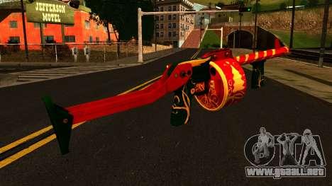 Navidad Escopeta para GTA San Andreas segunda pantalla