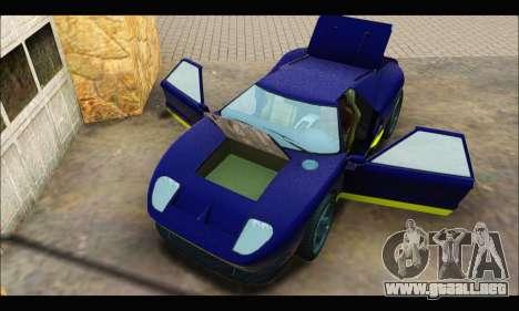 Vapid Bullet Gt (GTA IV) (LC Plate) para GTA San Andreas vista hacia atrás
