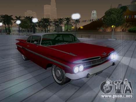 Chevrolet Impala 1959 para vista lateral GTA San Andreas