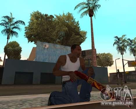 Año nuevo arma pack v2 para GTA San Andreas sucesivamente de pantalla