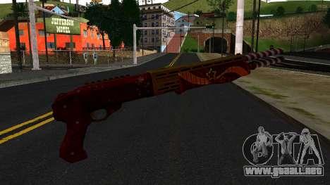 Navidad Escopeta De Combate para GTA San Andreas segunda pantalla